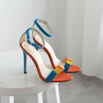 Stiletto Heel Peep-toe Ankle Strap ..