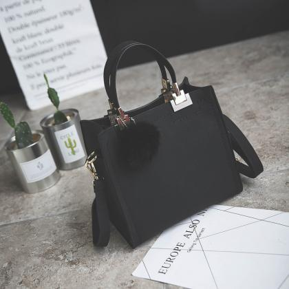 Square Vintage Tote Shoulder Bag
