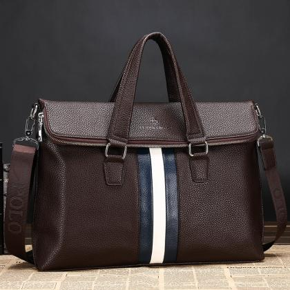 Casual PU Leather Men's Business Ba..