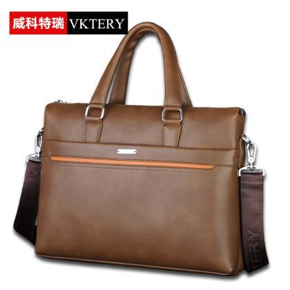 Solid Soft Zipper Men Bag