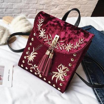 Ethnic Style Embroidery Tassel Wome..
