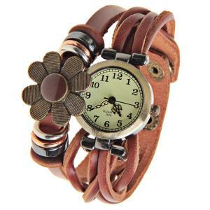 Free Shipping Round Dial Leather Watch Band Watch