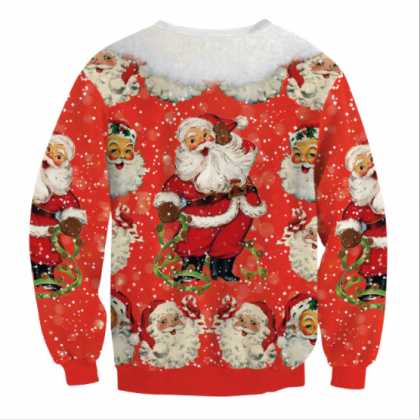 Santa Claus Digital Print Women Loo..