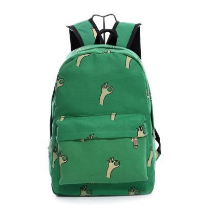 Lovely Korean Canvas Casual Backpac..