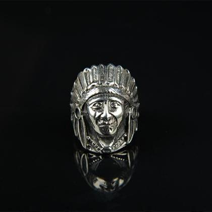 Indian chief index finger ring