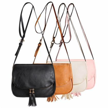 Leather Saddle Shoulder Bag Featuri..