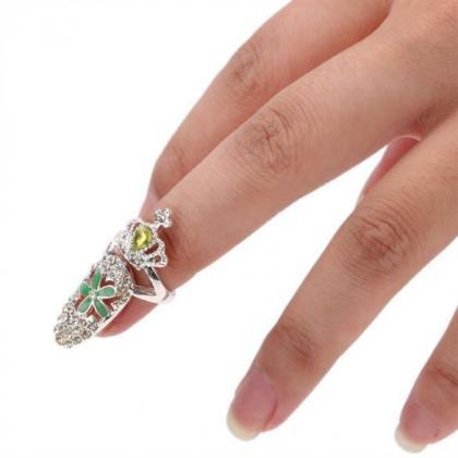 New Rhinestone The Nail Jewelry Fin..