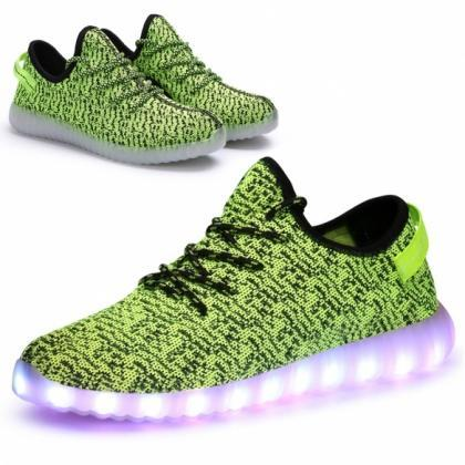 LED Light-Up Canvas Sneakers