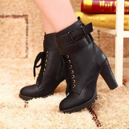 Classic Single Cross Belt High-Heel..