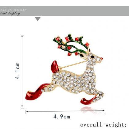 High-grade Christmas deer brooch br..
