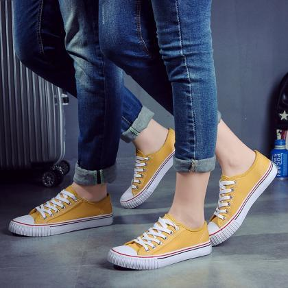 Classic Candy Color Canvas Lovers S..