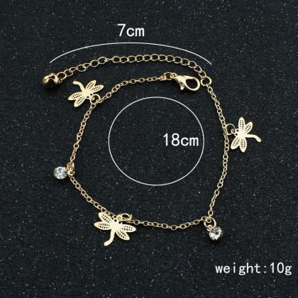 Dragonfly Double Layer Anklet