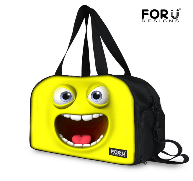 Lovely Cartoon Functional Canvas Travelling Bag