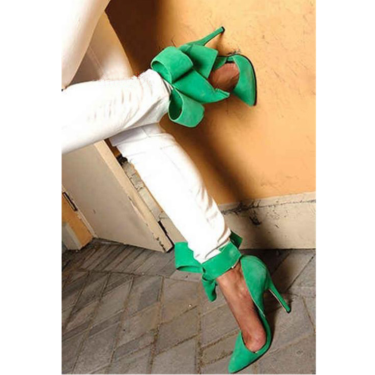 Celebrity Removable Big Bow High Heel Heels Shoes