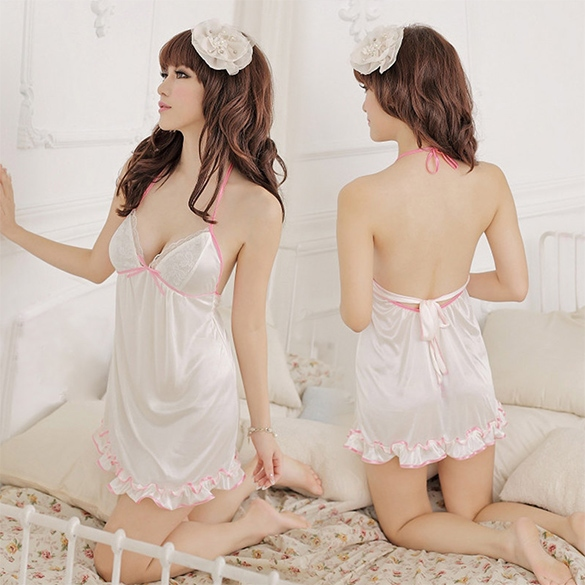 Women's Girls Sexy Meryl Lingerie Costume Fashion Pajamas Sleepwear