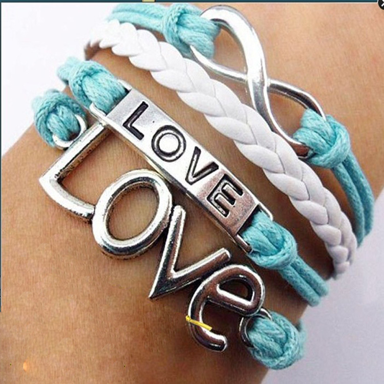 Retro Love Woven Multilayer Bracelet