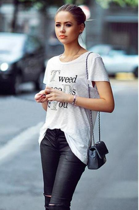 2017 Fertilizer Increased Loose Printed T-shirts