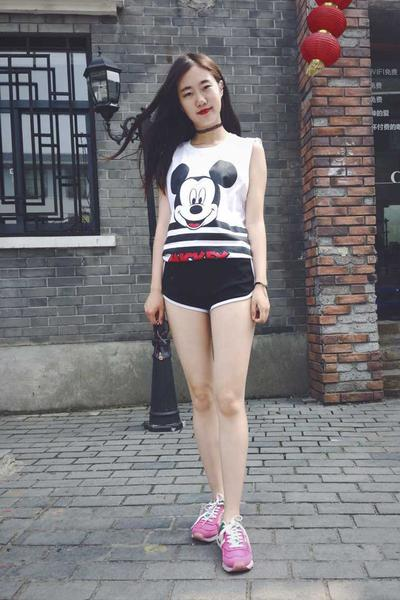 Casual High Waist Pure Color Sport Loose Shorts