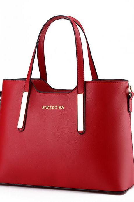 Zipper Women Totebag Shoulde Bag with Letter