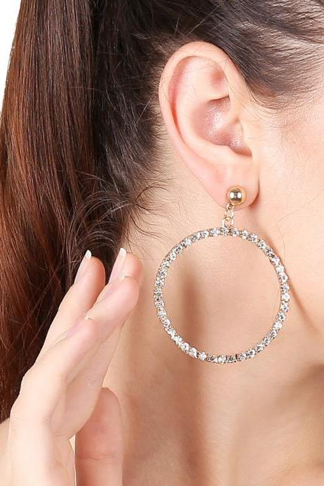 Fashion Geometry Set Auger Single Stud Earrings