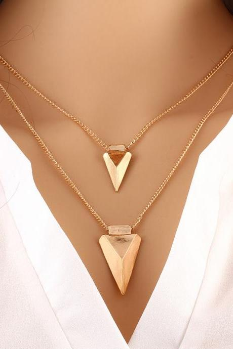 Fashion Contracted Multilayer Metal Necklace