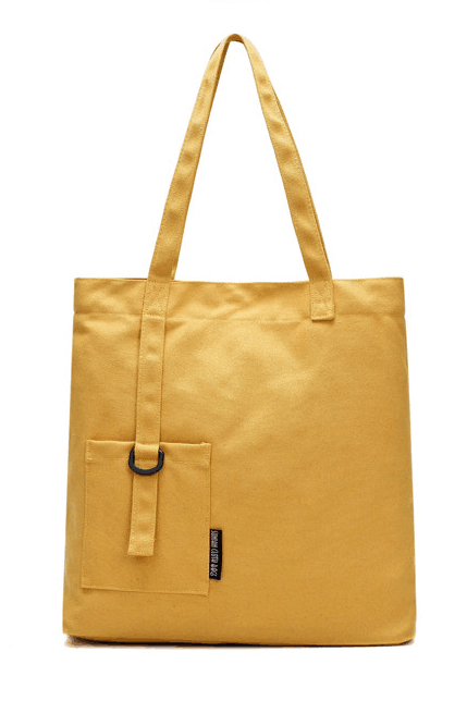 Casual Solid Color Canvas Shoulder Bag