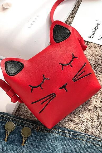 Cartoon Prints Soft PU Children Crossbody Bag