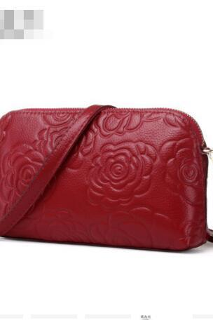 Rose Embossed Envelope Crossbody Bag