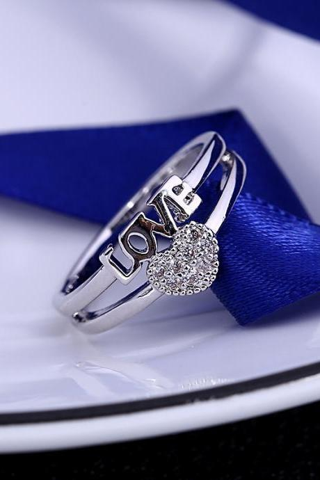 Han Edition Custom Temperament Lovers Ring