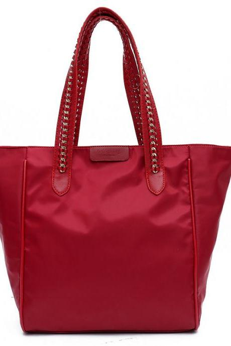 Big Capacity Zipper Adornment Tote Bag