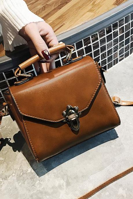 Well Match Solid Color Mini PU Crossbody Bag