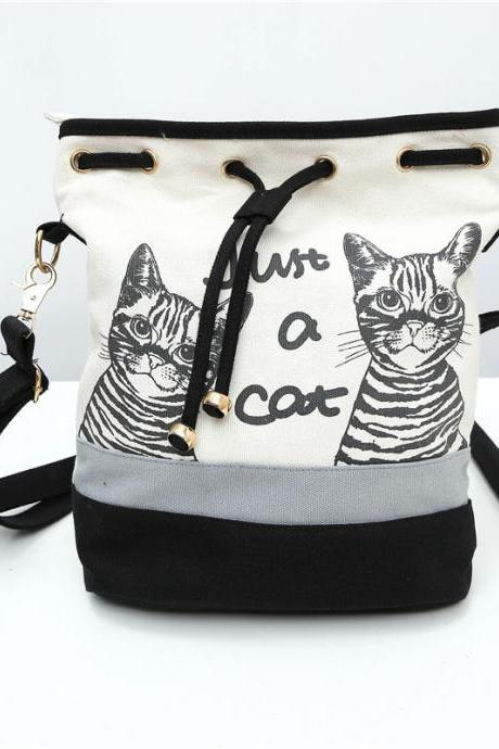 Casual Animal Prints Canvas Crossbody Bag