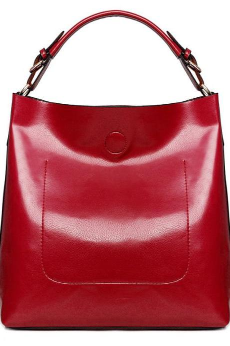 Chic Large Capacity Pure Color Women's Tote Bag