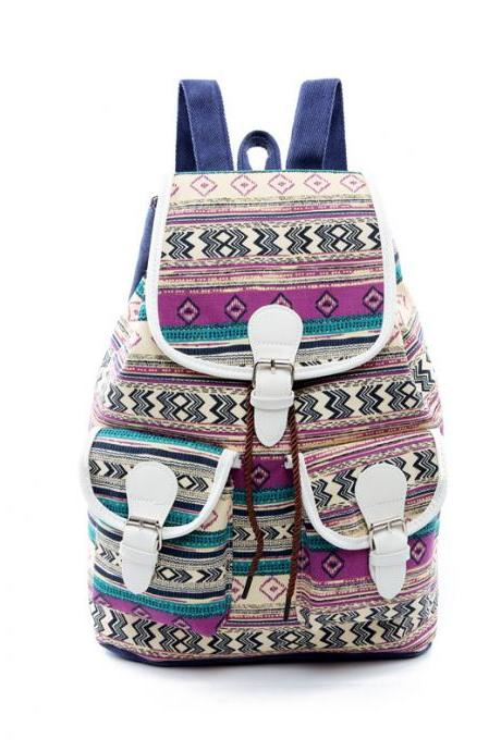 National Style Printing Canvas Backpack