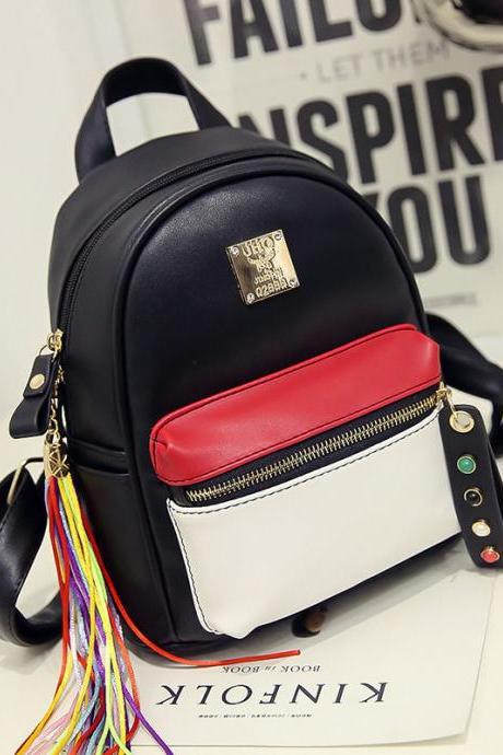 Lovely Colorful Tassel Pendant Backpack