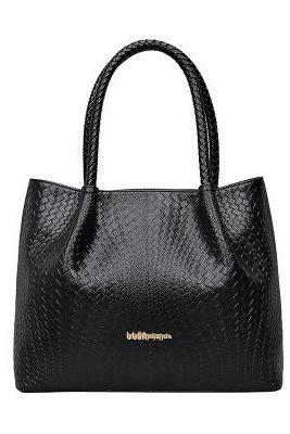 Vogue Knitted Grain Embossing Tote Bag