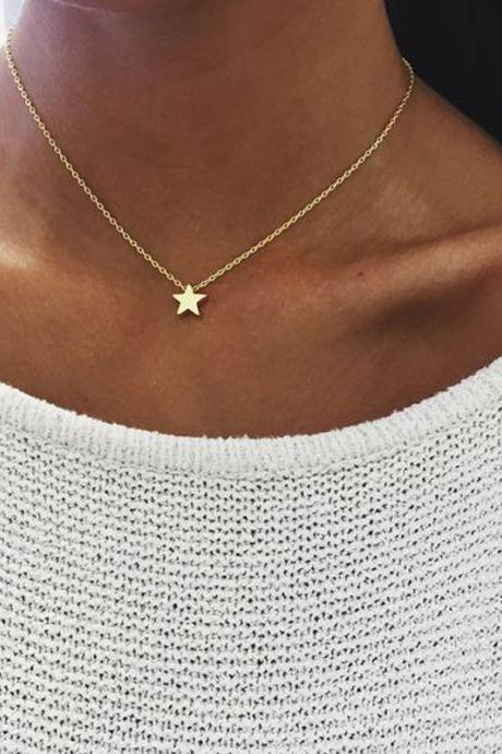 Fashion Thickened Star Pendant Necklace