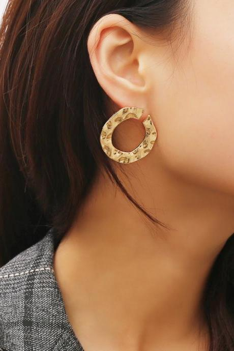 Irregular Open Style Stud Earrings