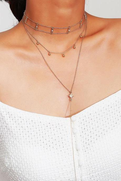 Simple Mmulti-layer Street Shooting Necklace