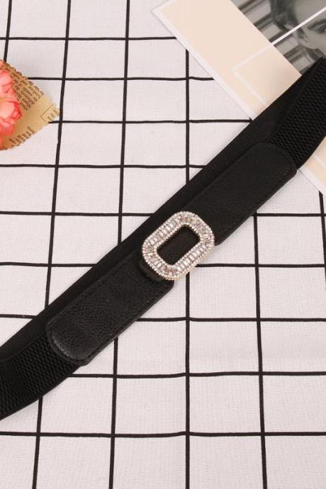 Round Women's Stretch Elastic Belt