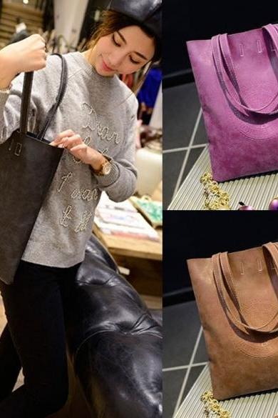 Korean Lady Women's Retro Matte Synthetic Leather Handbag Shoulder Messenger Bag
