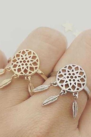 Are European and American design Dreamcatcher matte opening ring