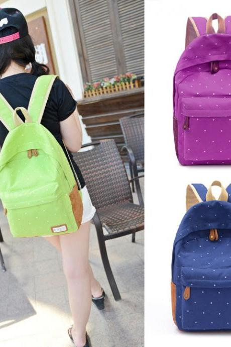 Hotsale Women's Canvas Travel Satchel Shoulder Bag Backpack School Rucksack