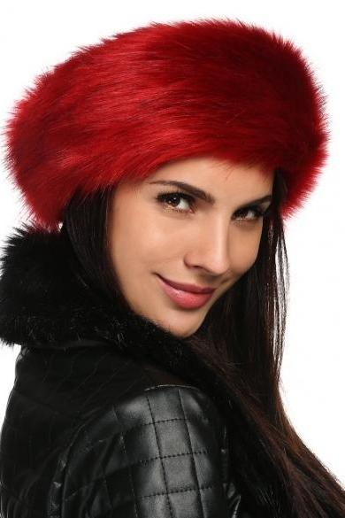 Zeogoo Women Fashion Winter Faux Fur Russian Cossack Style Headband Ski Hat Ear Warmer