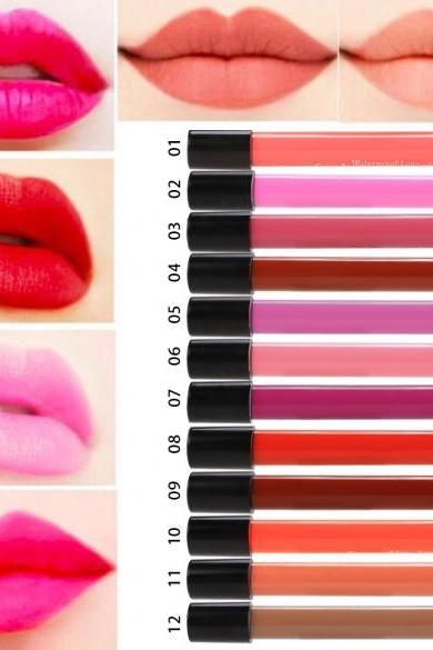 New Women's Waterproof Long Lasting Wet Lip Liquid Pencil Matte Lipstick Lip Gloss Beauty Makeup