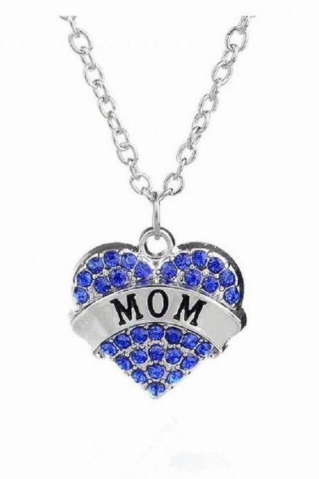 Fashion Female Heart Ms. crystal Affection Pendant Necklace