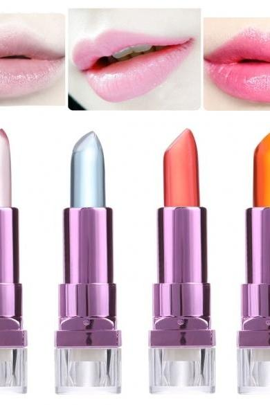 4 Colors Jelly Lipsticks Makeup Cosmetic Color Changing Smudge Proof Long-lasting Lip Stick