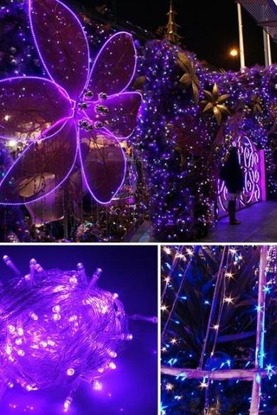 New Arrival 10M 100 LED Purple Lights Decorative Christmas Party Twinkle String 220V EU