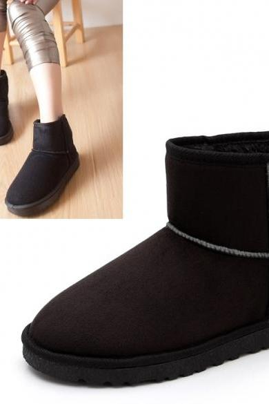 Women Winter Warm Ankle Snow Boots Shoes