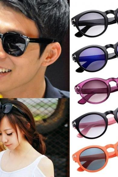 Fashion Unisex Vintage Style Sunglasses Round Frame Big Lens Eyewear Shades Glasses